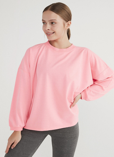 Penti Kadın Parlak Pembe Oversize Sweatshirt PHB6NOP921IY Pembe